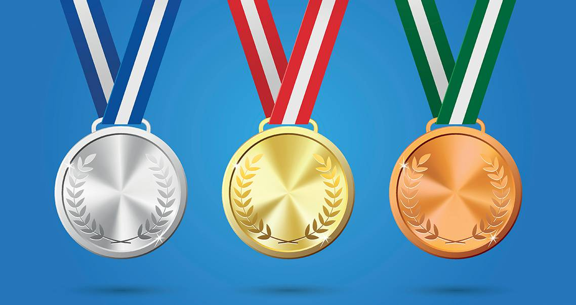 olympic medals illustration